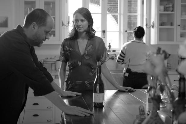 Il regista Joss Whedon e Amy Acker sul set di Molto rumore per nulla