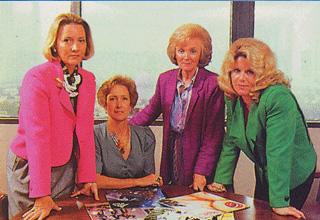 """Le promotrici del P.M.R.C.: """"Un giorno del 1985, Tipper Gore, moglie di un senatore democratico del Tennessee, comprò alla figlia di otto anni una copia del disco di Prince Purple Rain, colonna sonora di un film vietato ai minori che aveva già causato parecchie discussioni per il suo contenuto sessuale."""""""