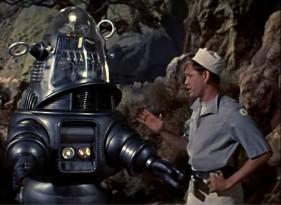Una scena del film di Fred Wilcox Il pianeta proibito del 1956