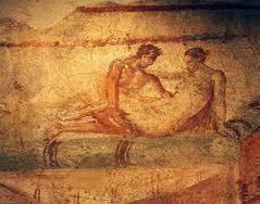Affreschi presenti nel Lupanare di Pompei.