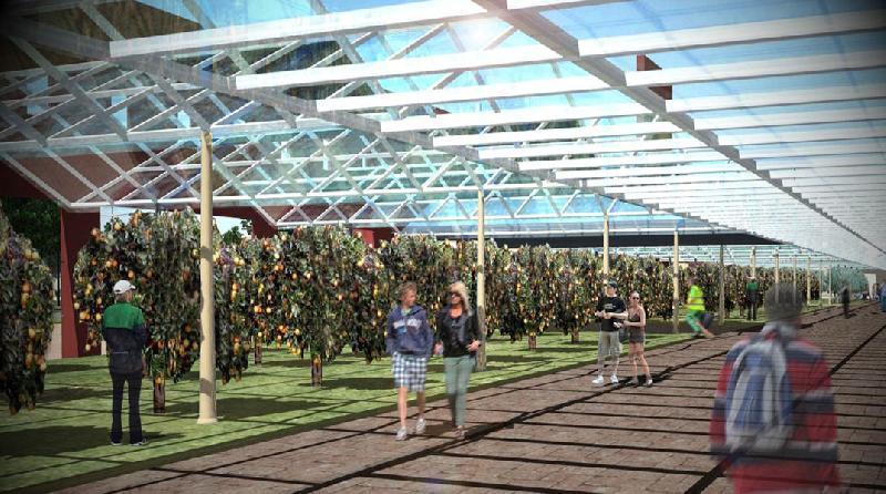 Ricostruzione in 3d del futuro parco agroalimentare