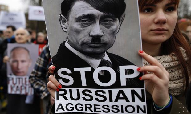 Protesta contro l'intervento della Russia contro l'Ucraina