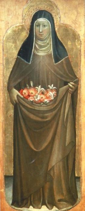 Santa Elisabetta di Turingia, particolare di un'opera di Gherardo Starnina