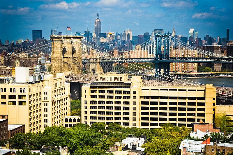 Sede centrale mondiale dei testimoni di Geova a Brooklyn