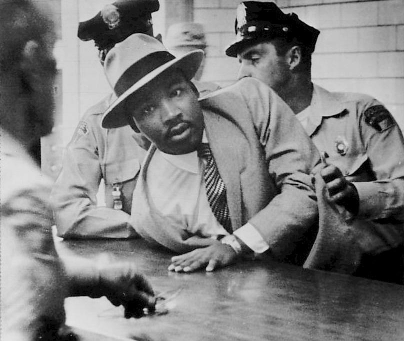 L'arresto di Martin Luther King a Montgomery nel 1958
