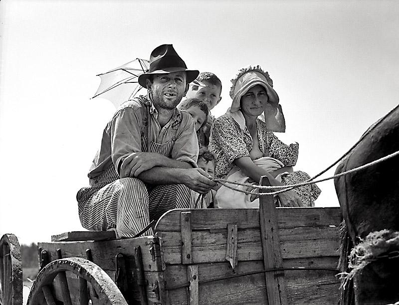 Una famiglia di Okies diretta a San Francisco, 1930 circa