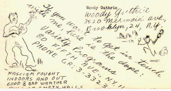 Un'immagine tratta da Ten of Woody Guthrie's songs 25 cents. Book one