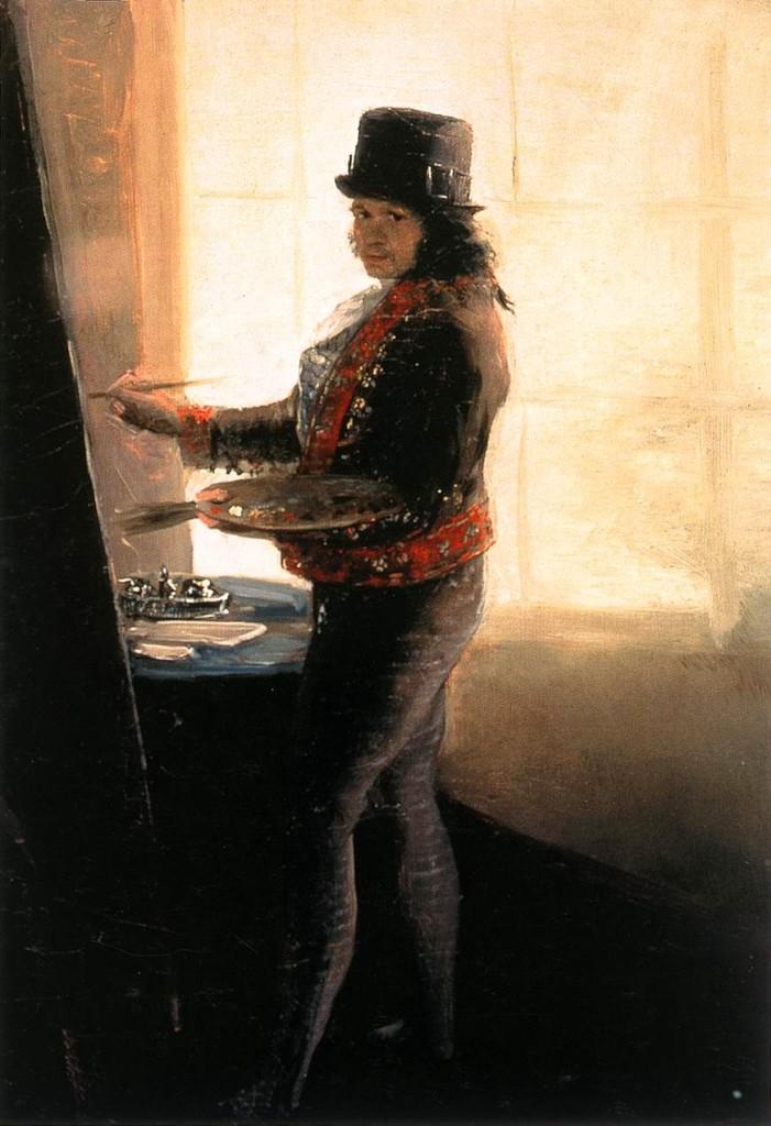 Francisco Goya, Autoritratto nello studio, 1793-95.