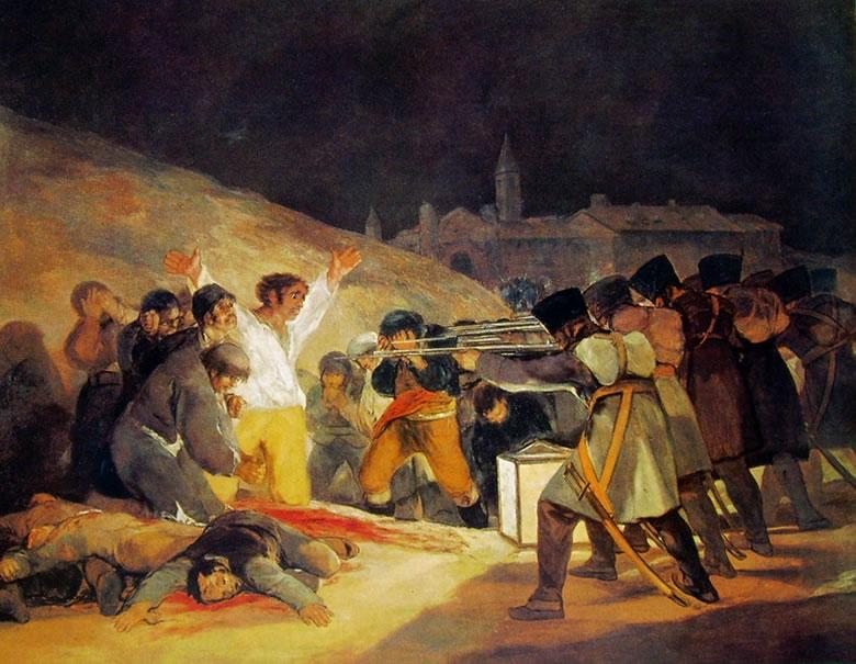 Francisco Goya, Le fucilazioni del 3 maggio, 1814.