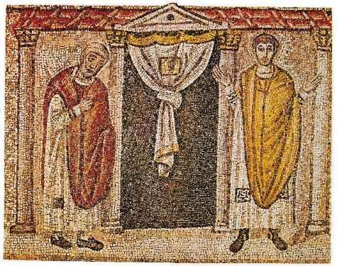 Il fariseo e il publicano alla porta del Tempio, della Basilica di Sant'Apollinare nuovo a Ravenna