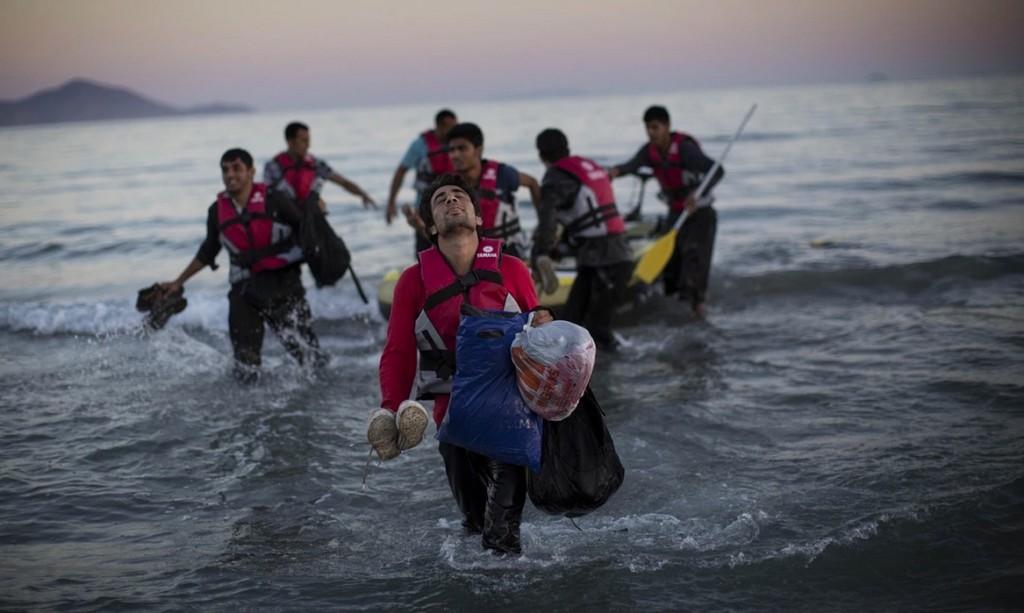 Migranti sbarcati a Kos, 31 agosto 2015