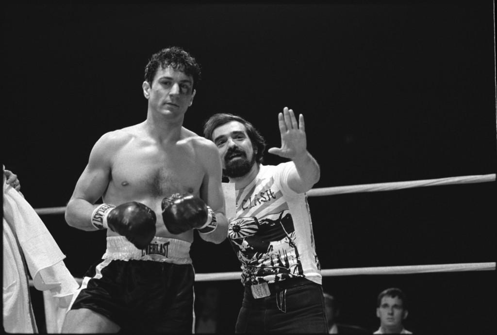 Martin Scorsese e Robert De Niro sul set di Toro Scatenato