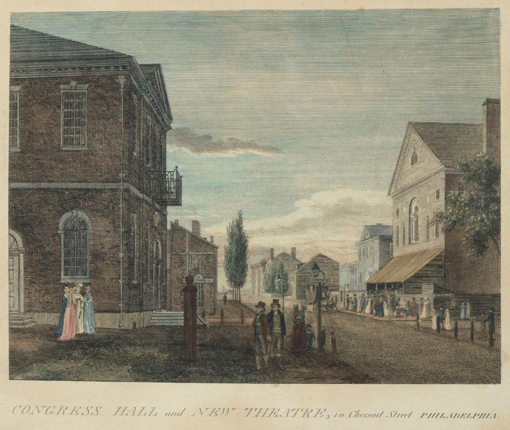 Cartolina del 1800 di Chessnut Street