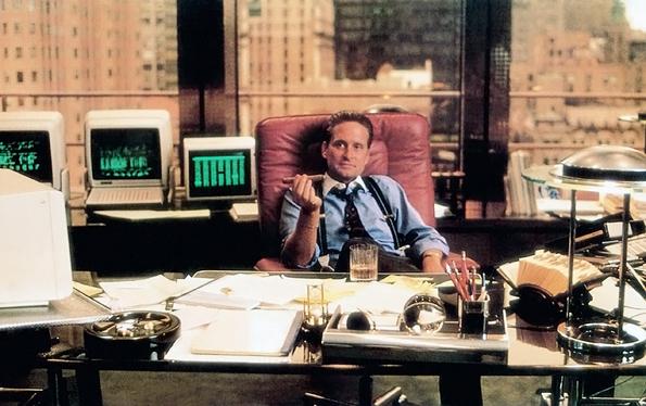 Scena tratta dal film del 1987 di Oliver Stone Wall Street