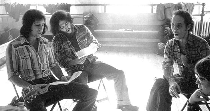 John Belushi durante le prove dello spettacolo 'Lemmings'