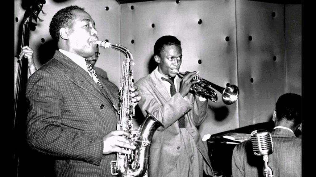 Miles Davis e Charlie Parker nel 1948