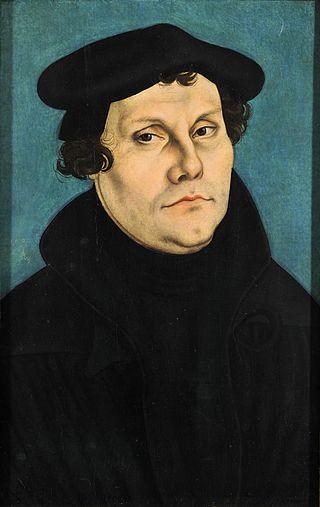 Ritratto di Martin Lutero di Lucas Cranach (1529)